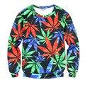 Пространство/galaxy 3d футболка мужчины 3d толстовки harajuku стиль смешно печати Разноцветные листья sudaderas hombres 2016 Бесплатная Доставка