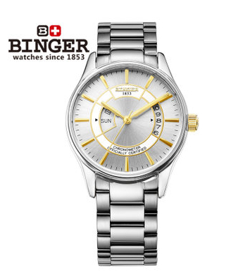 Top Famous Brand NEW Watch Automatic Mechanical Watch White Dial Hollow Skeleton Mens Waterproof Watches Gold Binger Wristwatch new arrivel white dial mens automatic skeleton mechanical watch with two movement freeship