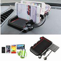 Universal Autotelefon Stand Magnetic Charging Halter Armaturenbrett Rutschfeste Pad auto Halterung für Smartphone für Samsung für iPhone 6 6 s 7