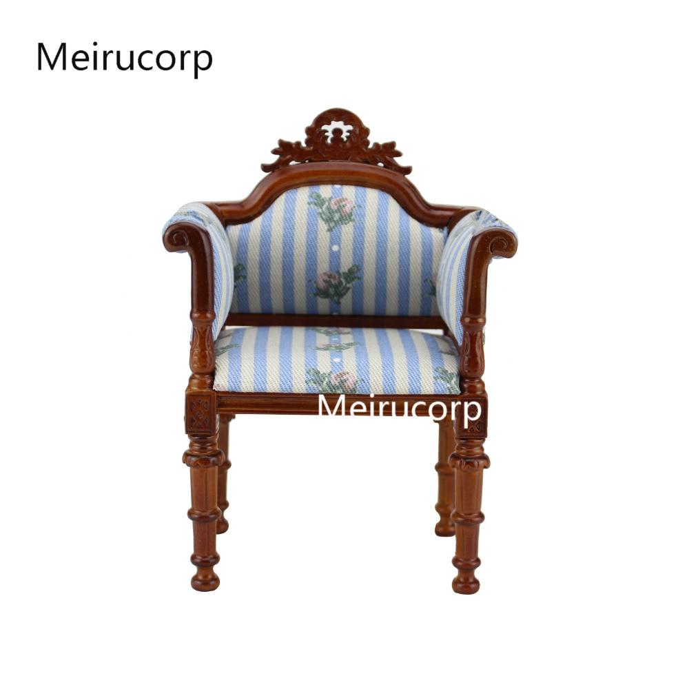1/6 scale Fine Dolls Furniture Petal stripe pattern Hand Carved Chair Fabric fine furniture стол журнальный