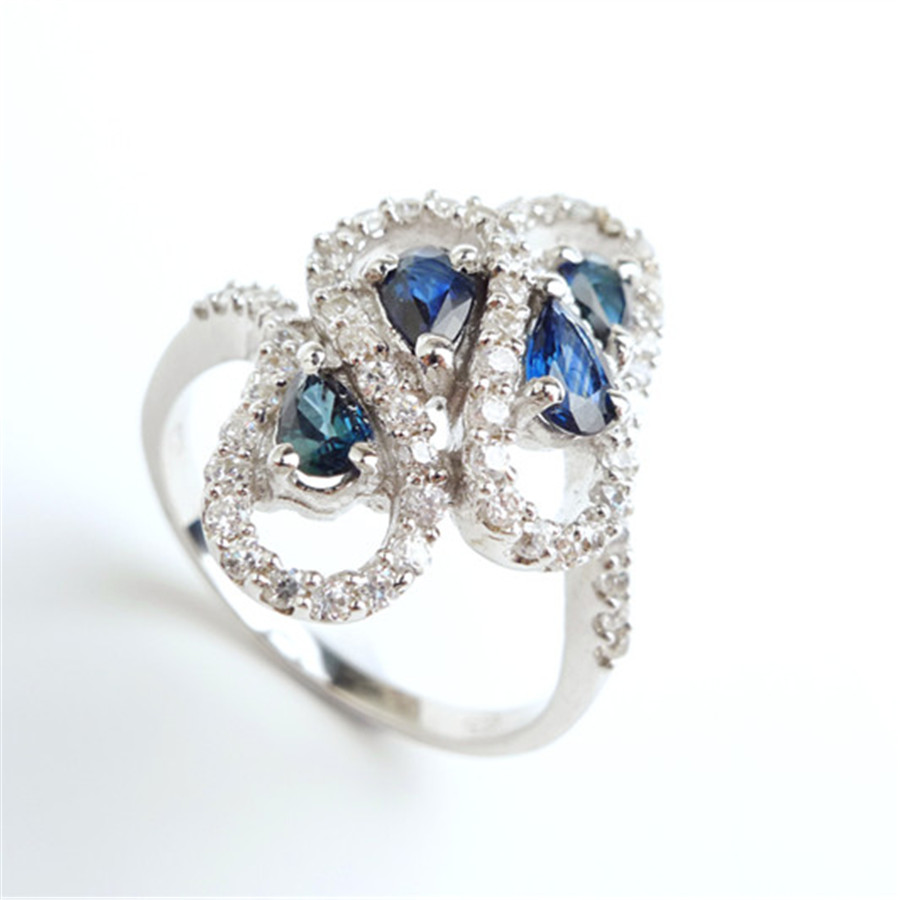 Size 8 AAAA Genuine Natural Blue Gems Rings For Women Zircon Jewelry Engagement Wedding 925 Sterling Silver Ring GiftSize 8 AAAA Genuine Natural Blue Gems Rings For Women Zircon Jewelry Engagement Wedding 925 Sterling Silver Ring Gift