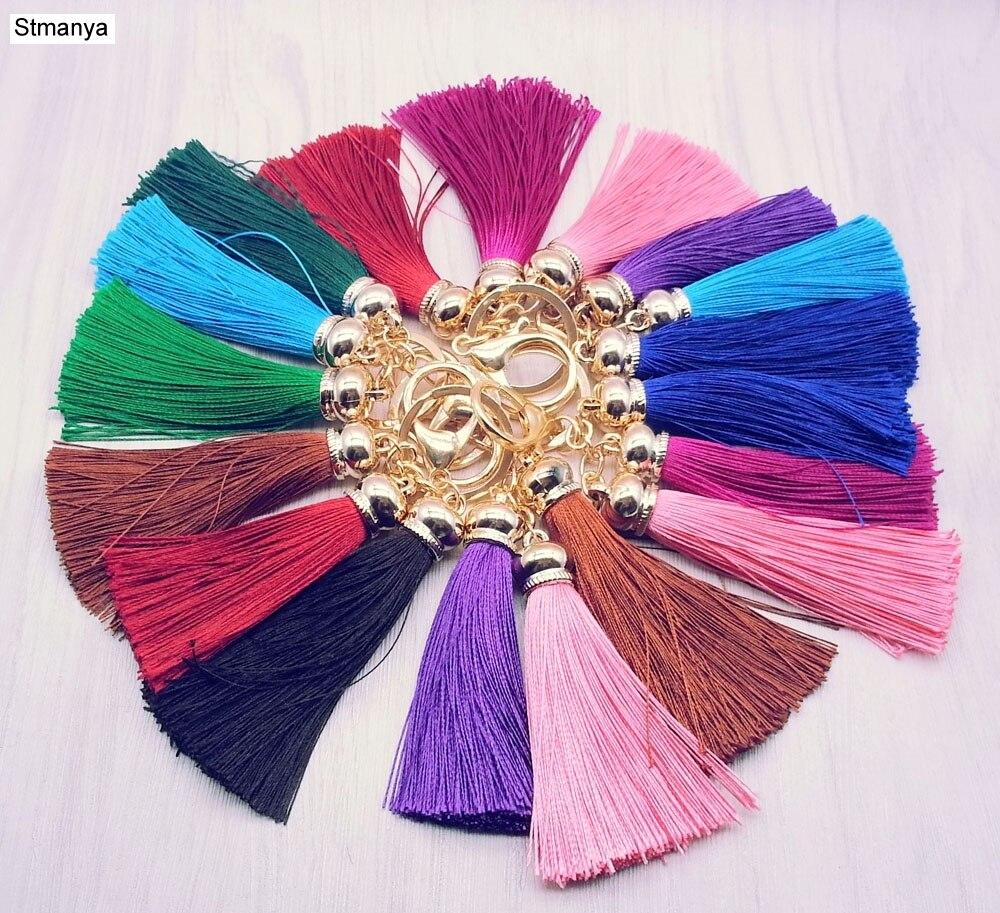 Nueva cadena dominante de la borla mujeres lindo colorido franja ...