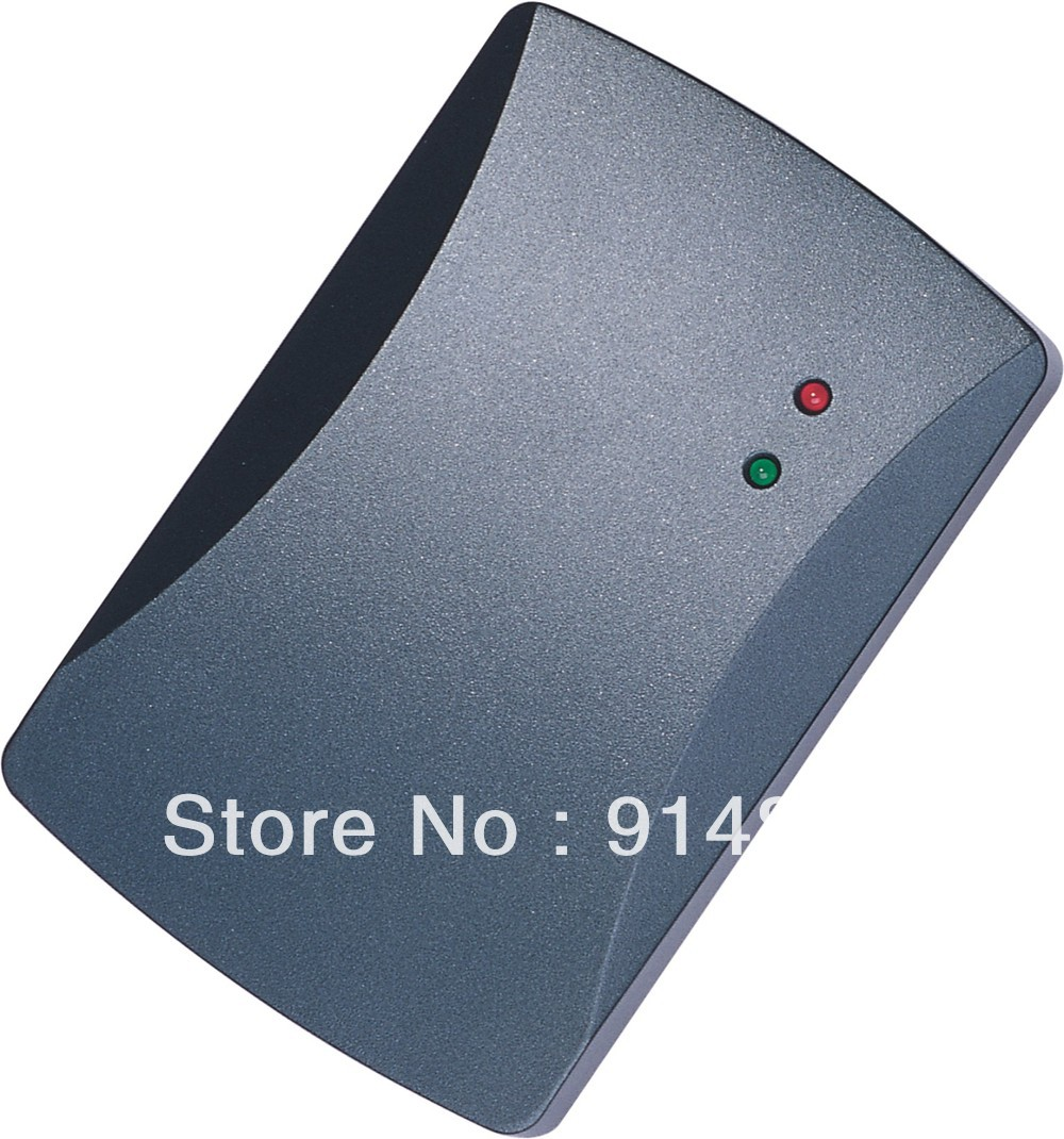 outdoor MF 13.56MHZ weigand 26 door access control rfid card reader with two led lights 5pcs lot free shipping outdoor 125khz em id weigand 26 proximity access control rfid card reader with two led lights