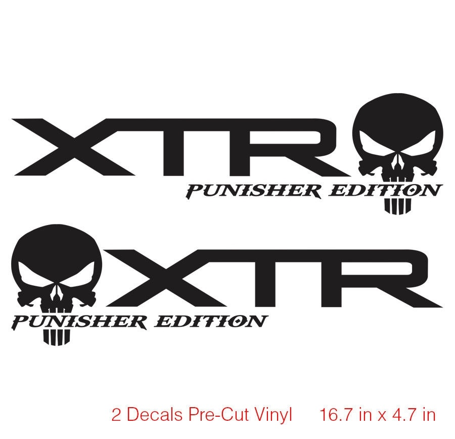 for x2 ford f150 f250 xtr punisher off road decal vinyl truck stickers offroad 4x4