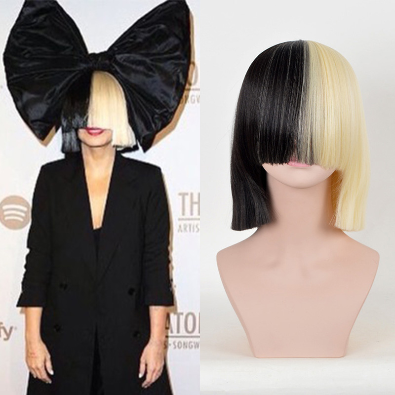 Sia Alive This Is Acting 34cm Half Black And Light Golden Short