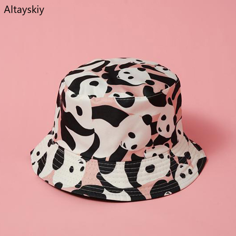 Dependable Bucket Hats Women Panda Cartoon Double Sided All-match Womens 2019 New Trendy Unisex Streetwear Design Fishing Climbing Kawaii Dependable Performance