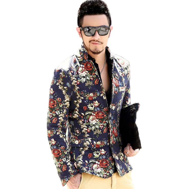 High Quality Floral Blazer Men Promotion-Shop for High Quality ...
