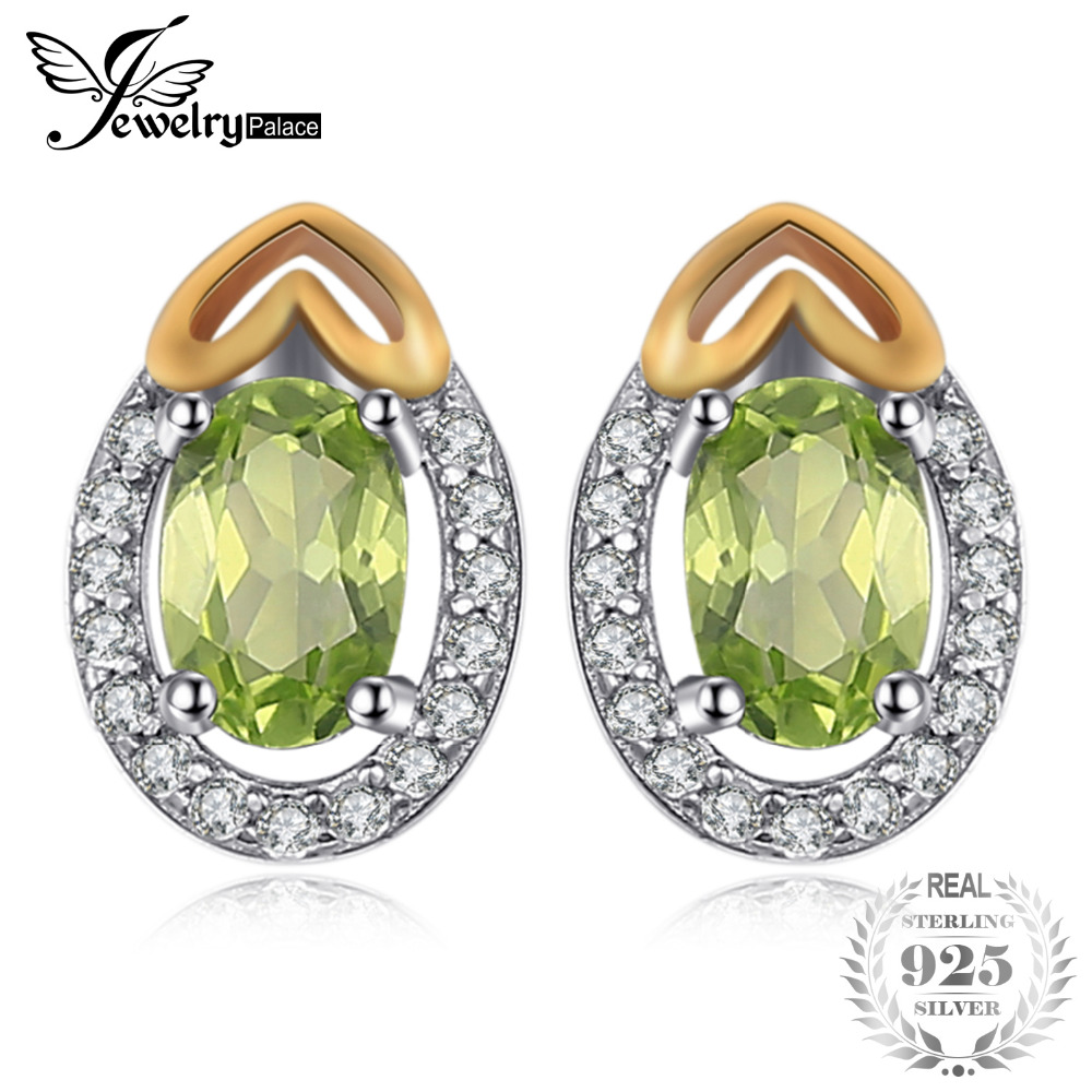 JewelryPalace Luxry 1.13ct Genuine Gemstone Peridot