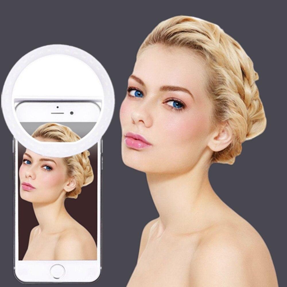 Nouveau Arrivent Téléphone Photographie Anneau Lumière L'amélioration Photographie avec USB Charge Selfie Portable Flash Led pour iPhone Smartphone