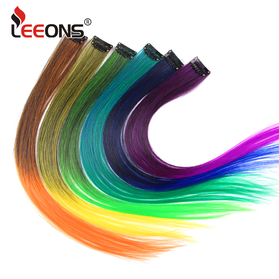 Hot Sale Leeons Clip In Hair Extensions False Hair With Clip 18 Inch