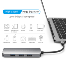 dodocool 7-in-1 Multifunction USB C Hub 4K HD Output SD/TF PD Charging 3 USB 3.0 Ports for MacBook Type C Hub USB 3.0 Hub