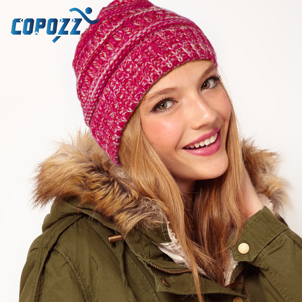 купить COPOZZ New Ponytail Winter Hats For Women Knitted Caps Men Woolen Hat Casual Unisex Hip-Hop Hiking Ski Snowboard Warm hat по цене 400.51 рублей