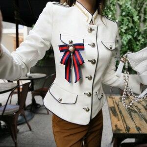 Image 4 - Abrigo de alta calidad para mujer, de estilo vintage chaqueta cómoda, elegante, para vacaciones, Primavera, 2020
