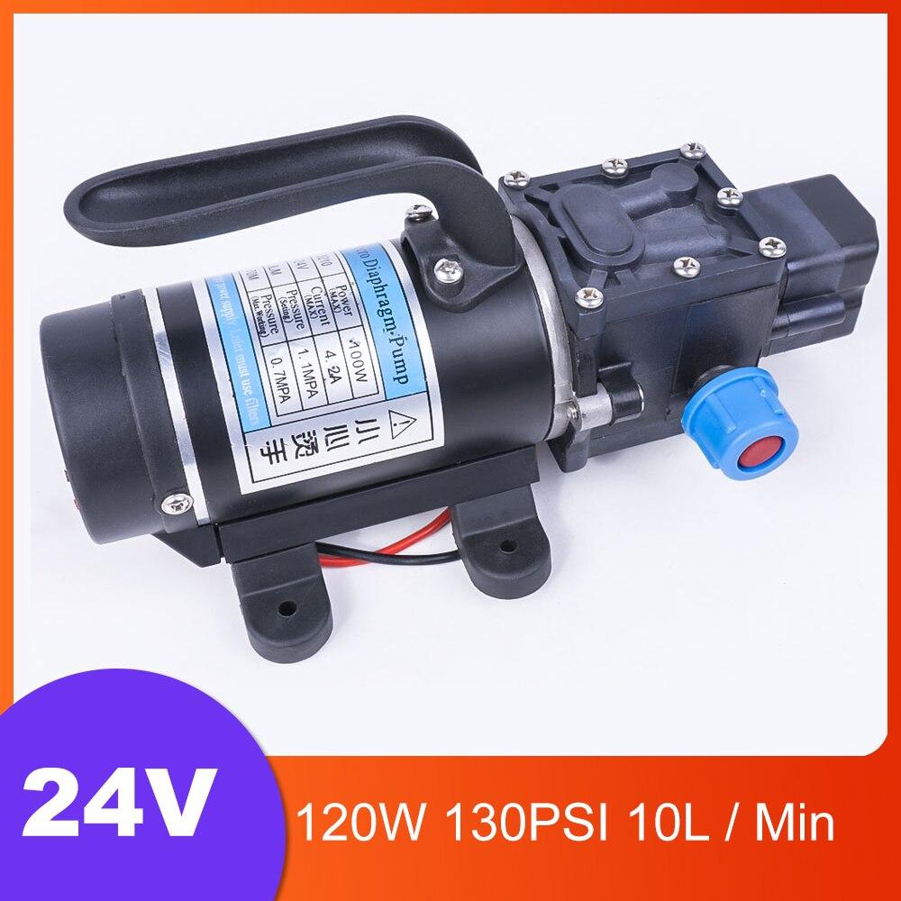 DC 24V 100W 130PSI 8L/Min eau haute pression pompe à membrane pompe auto-amorçante commutateur automatique pour Wagon de jardin