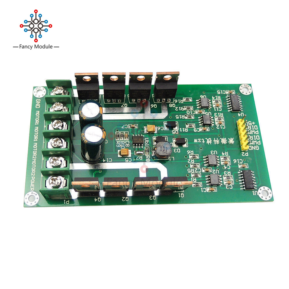 Elecrow Dual Channel H Bridge Motor Shield Driver Irf3205s Mosfet Dc On The Supply Isolated Power Ir2104 100 Pwm Circuit 10a Peak 30a Board Module High 3