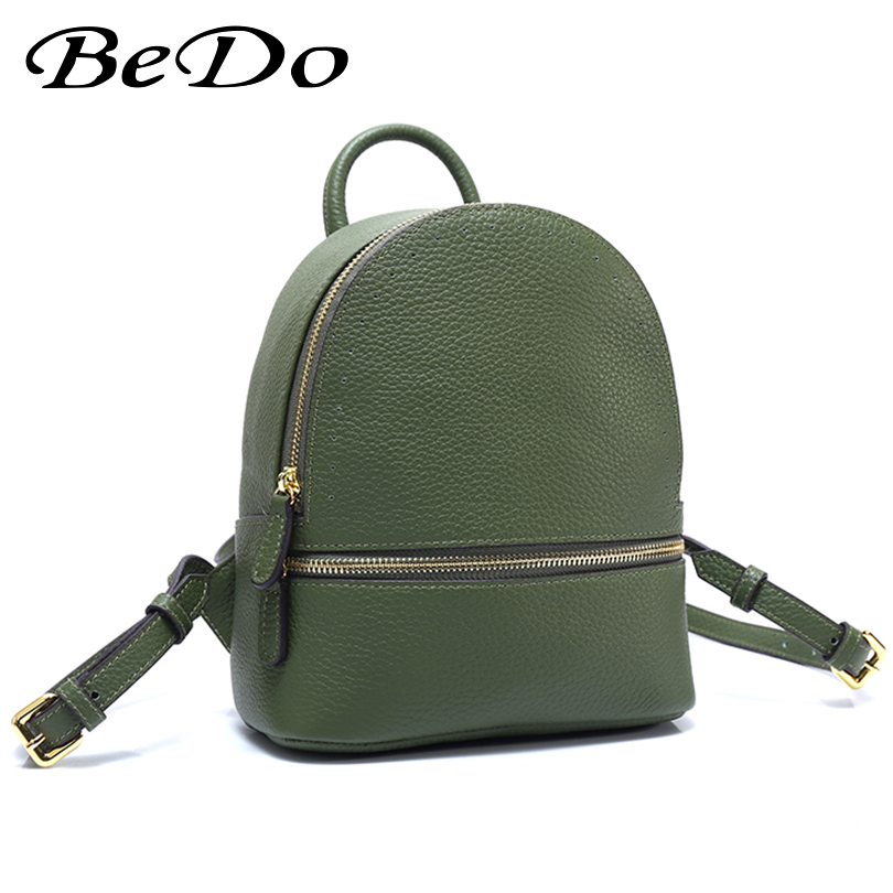 BeDo Designer School Bags for Teenage Girls Genuine Leather Cow Fashion Backpack Women Casual Travel Daypack Mochila Feminina wmnuo women backpack cow leather for girls school bags fashion shoulder bag mochila designer travel bag casual computer backpack