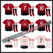 02c3b09d3bf 2019 Manchestered United kids kit +sock soccer Jerseys home away third 18 19  child POGBA Football shirt Uniforms boys 2652