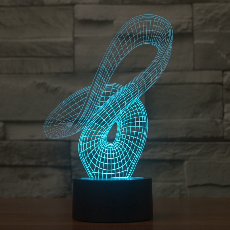 Acrylic Visual Stereo Desk Lamp Led
