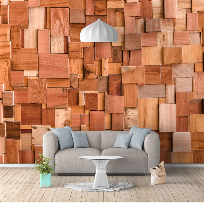Custom Photo Wallpapers 3D American Style Vintage Wood Mural Red Brick Stone Walls Papers for Living Room TV Backdrop Home Decor custom european style wallpapers little angel fresco wallpaper for walls 3d hotel greek mythology mural western photo wallpapers