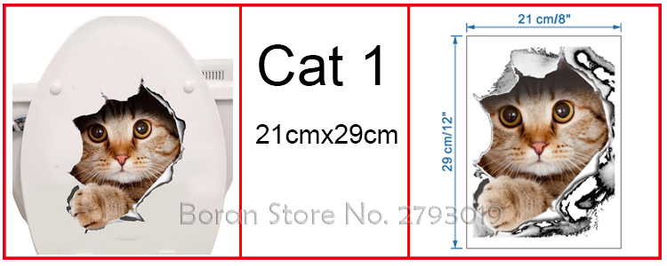 Cats 3D Wall Sticker Toilet Stickers Hole View Vivid Dogs Bathroom Cats 3D Wall Sticker Toilet Stickers Hole View Vivid Dogs Bathroom HTB1FS1zQFXXXXaVXXXXq6xXFXXXs