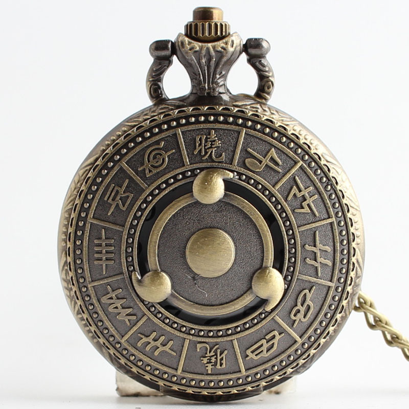 Vintage Bronze Quartz pocket watch Steampunk Quartz Pocket Watch Men Women Necklace Pendant Clock Christmas Gifts steampunk skeleton mechanical pocket watch men vintage bronze clock necklace pocket