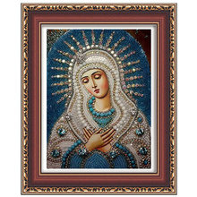 Бисероплетения богоматери религиозные иисус крестом мозаика стразы фотографии алмаз вышивка живопись