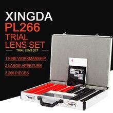 Xingda-PL-266 optometryl объектива Набор 266 шт. объектив коробка для сбора доказательств Пластик обод качества торговое оборудование оптическое оборудование