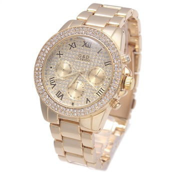 Relogio Feminino G&D Gold/Silver Women Quartz Wristwatches Diamods Stainless Steel Relojes Mujer Womens Watches Top Brand Luxury