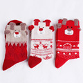 1 Pair 2016 New Women Winter Warm Christmas Warm Soft Cotton Cute Deer Bear Socks Xmas Christmas socks