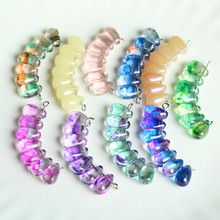 6x9MM 10Pcs/Pack Mixed Colors Teardrop Oval Crystal Beads Clear Water Drop Glass For Jewelry Making DIY Bracelet Necklace