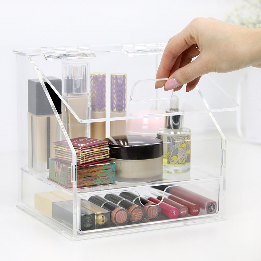 2018 aila novelty makeup organizer with lid high quality small