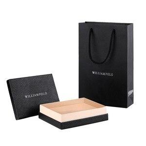 Image 5 - Williampolo男walet本革ハスプ閉鎖カードホルダー小バッグギフトボックス男性の財布メンズ財布PL319