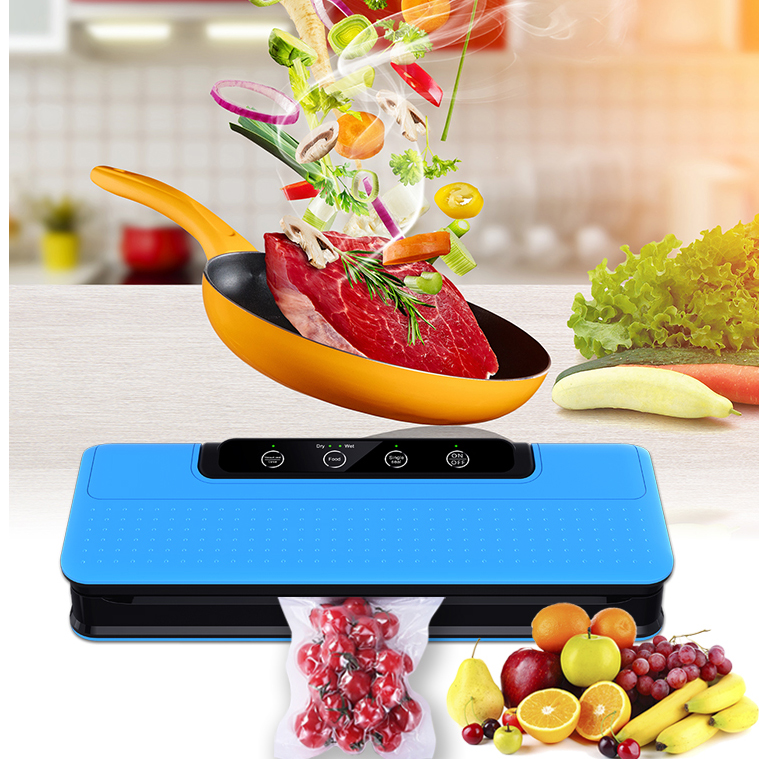 Household Handheld Handy Continuous Food Sealer FoodSaver Food Saver Vacuum Sealer Plastic Pouch Sealing Machine