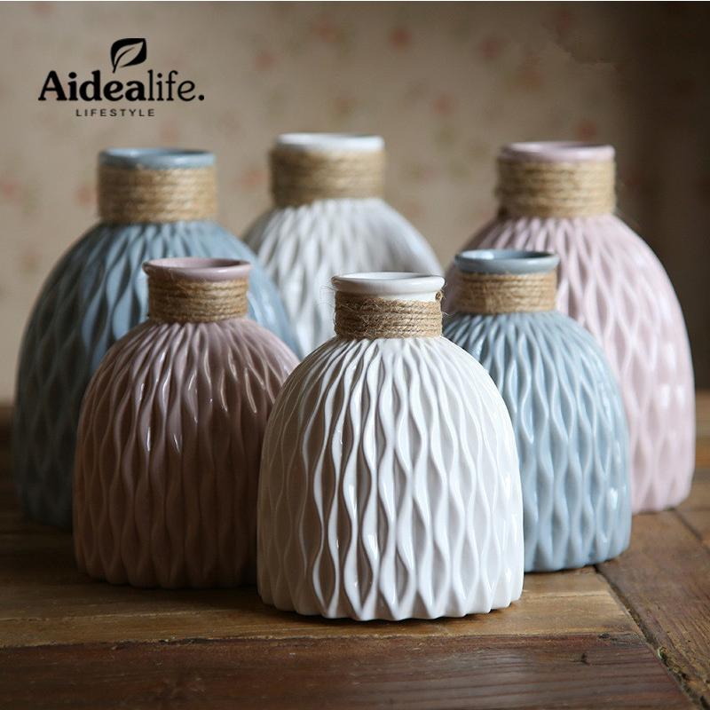 jarrones para centros de mesa para bodas accesorios de decoracin del hogar moderno chino azul y