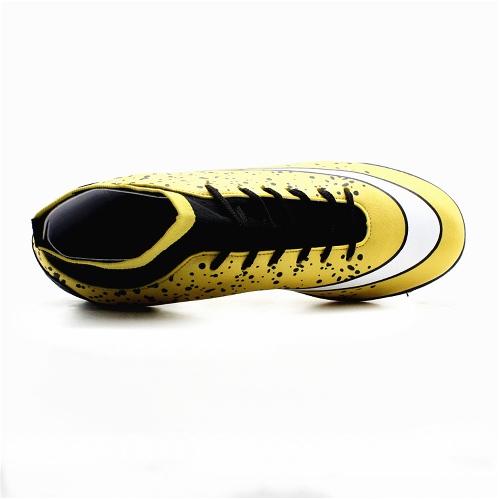 de7b8746d7b MAULTBY Men s Black Yellow Turf High Ankle TF Sole Outdoor Cleats Football  Boots Shoes Soccer Cleats-in Soccer Shoes from Sports   Entertainment on ...