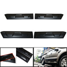 HOT SELL Exterior body cladding kits ONLY FIT FOR 4DOOR STYLING MOULDING DOOR COVER RANGER T6 T7 4 COVERS 2012-2017
