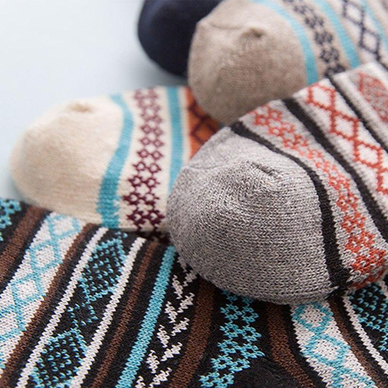 Thick Winter Socks in Geometric Pattern 4