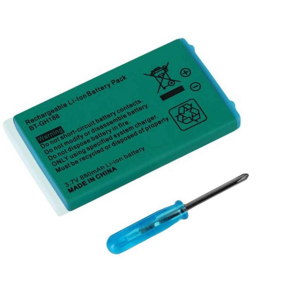3.7V 850mAh Rechargeable Replacement Li-ion Battery for Nintendo Game SP Systems & Screwdriver