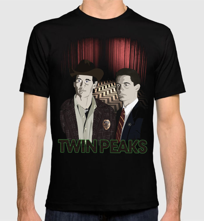 Twin Peaks Art Mens T-Shirt David Lynch Dale Cooper 100% Cotton Tee Summer Casual Man T Shirt Good Quality top tee