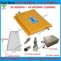Booster LCD! 3G W-CDMA 2100 MHz 2G GSM 900 Mhz Amplificador de Señal de Teléfono Celular de Banda Dual GSM 900 2100 UMTS Repetidor de Señal Del Amplificador