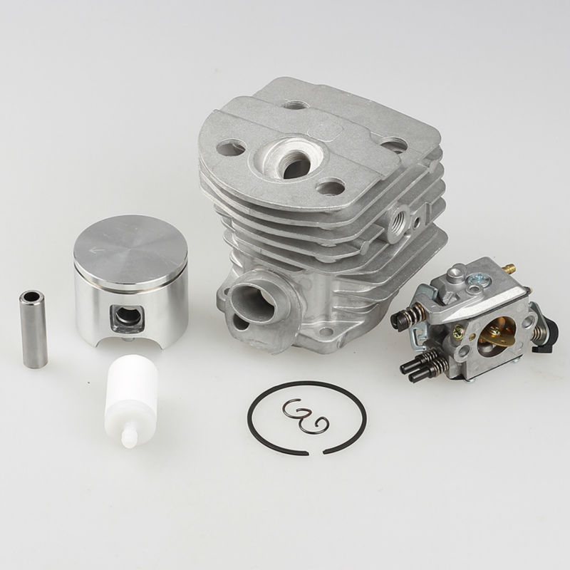 New 46mm Cylinder Piston Kits for Husqvarna 55 51 Walbro Carburetor Fuel Filter Chainsaw parts # 503 60 91-71 38mm cylinder piston crank case housing bearing kit fit husqvarna 137 142 new