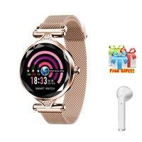New Smart Band Color Touch Screen Blood Pressure Heart Rate Sleep Fitness Tracker life Waterproof Sport Bracelet+earphone gift