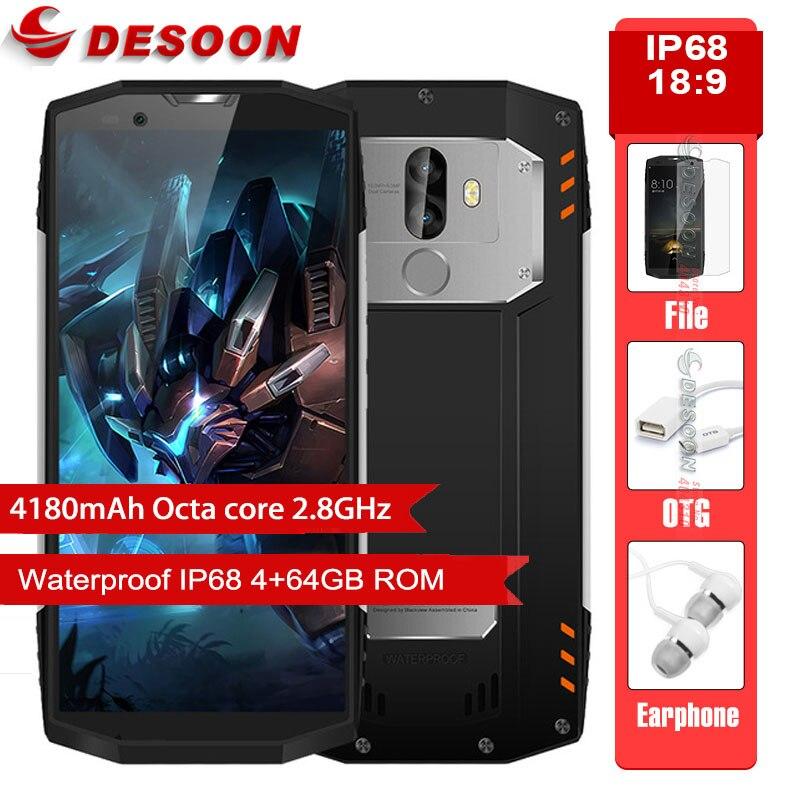 Blackview BV9000 IP68 Водонепроницаемый смартфон Helio P25 Восьмиядерный 6 GB Dual SIM 5 7 &quot18:9 FHD + Face