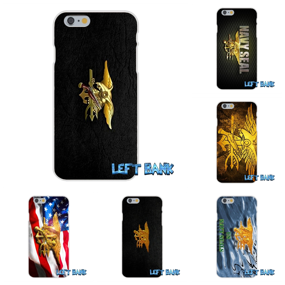 For iPhone 4 4S 5 5S 5C SE 6 6S 7 Plus Navy Seals Soft Silicone TPU Transparent Cover Case