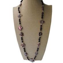 100% натуральный пресноводный жемчуг длинное ожерелье 90 см
