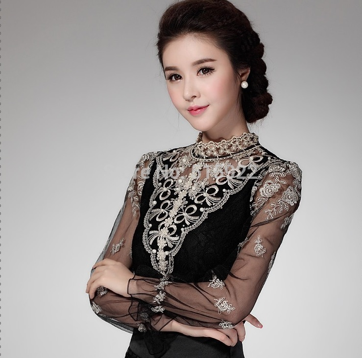 Aliexpress.com : Buy 2017 New Spring Mesh Lace Top Female