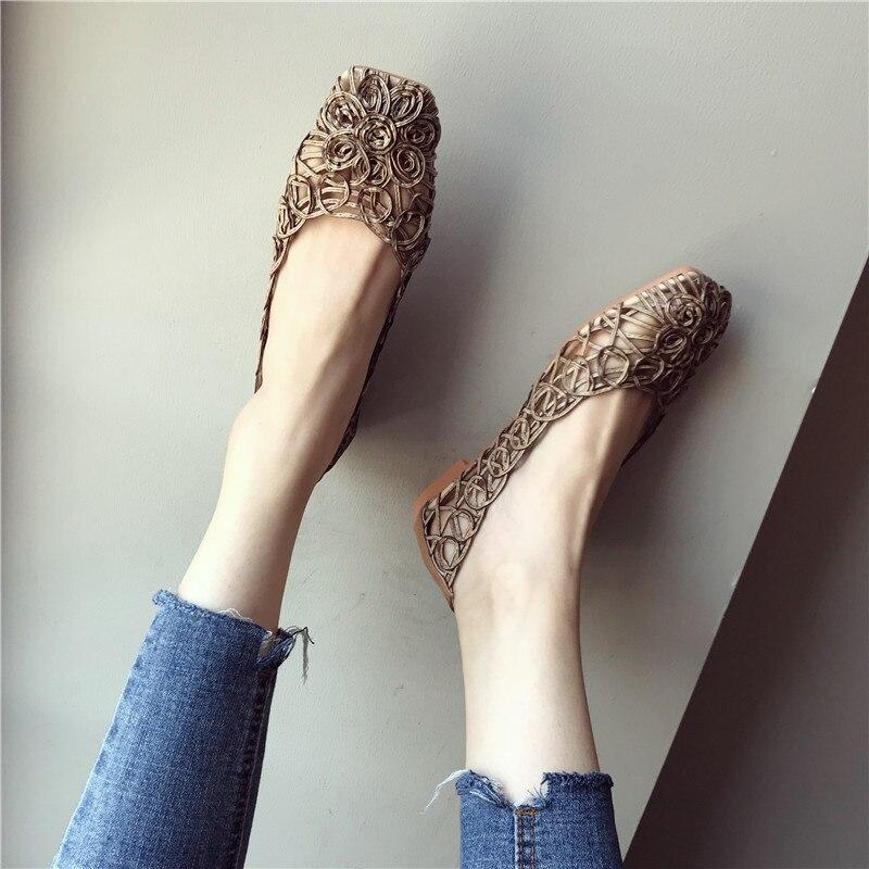 verão feminino sexy flor sapatos casuais suqare
