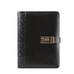 CAGIE  Planner Vintage Notebook A5 Personal Diary With Lock Notebooks Leather Organizer Travel Journal Agenda