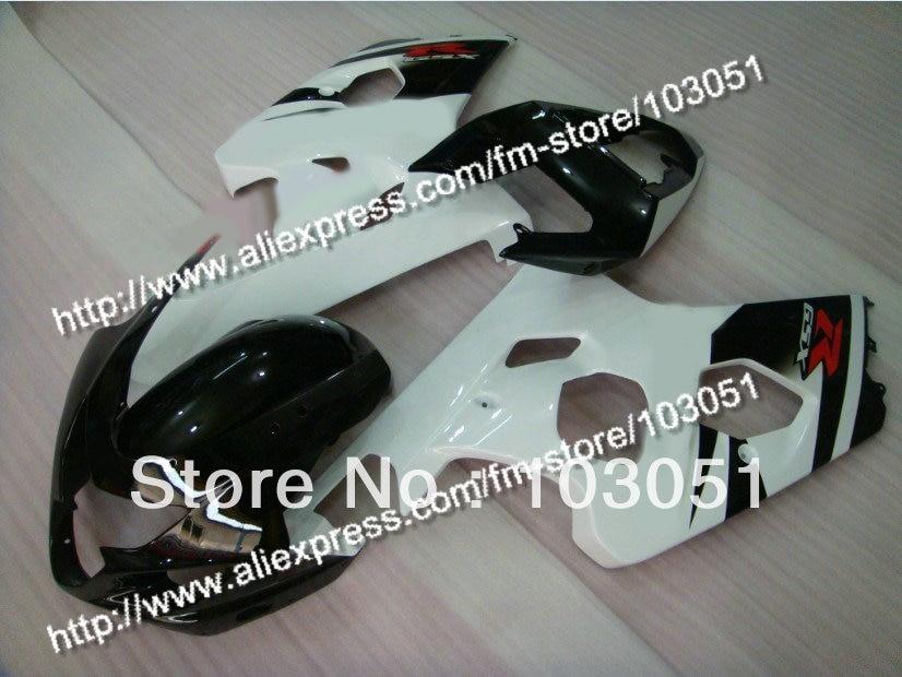 кузова для Suzuki 2004 2005 GSXR 600 обтекатели обтекатель GSXR 750 К4 04 05 белый глянцевый с черными DB87
