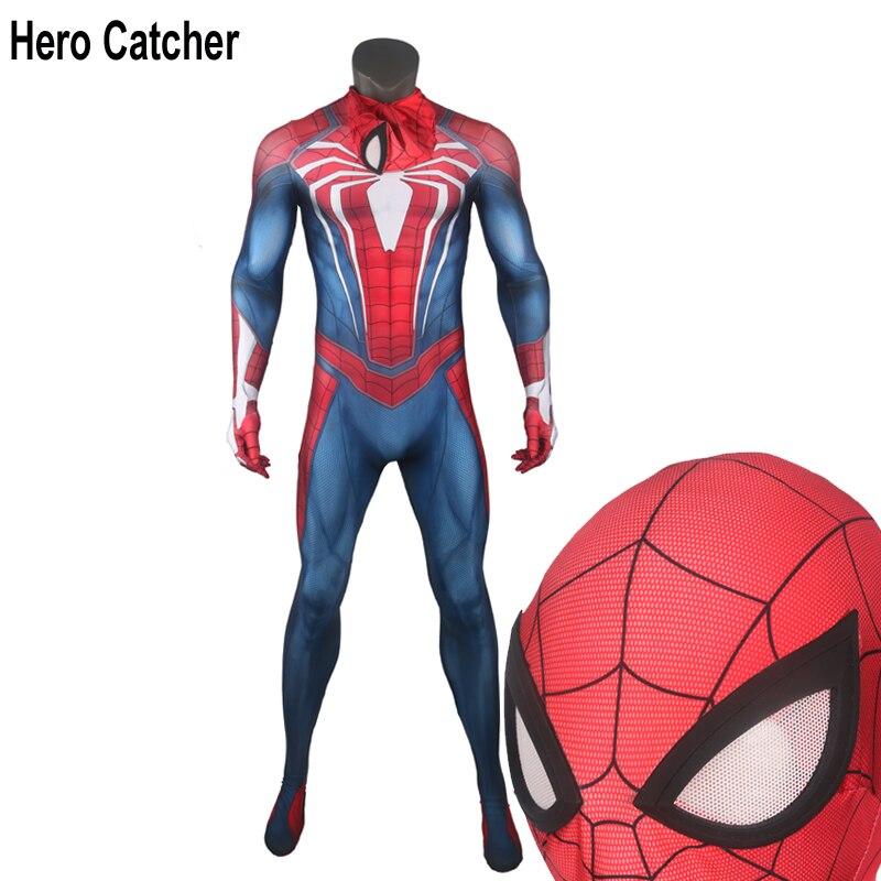 Héros Attrape Nouveau Spiderman PS4 Cosplay Costume